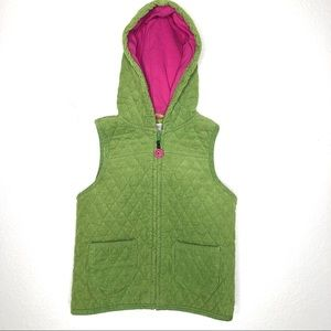 Gymboree Quilted Corduroy Zip Vest Hooded Size 5-6